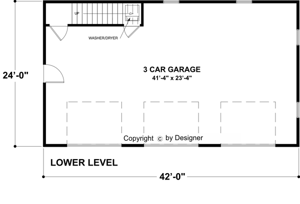 Garage Level image of The Belmont Carriage House House Plan