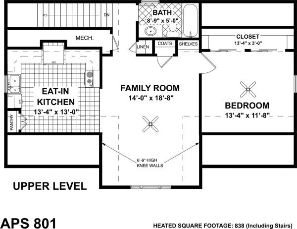 Living Area Floorplan image of The Belmont Carriage House House Plan