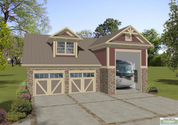 Boat-RV Garage 1753 - 1 Bedroom and 1.5 Baths | The House Designers