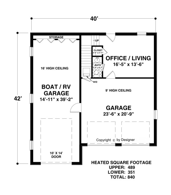 boat rv garage office 3069 1 bedroom and 1 bath the On garage plans with office space