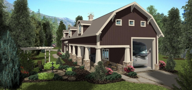 Shadow mountain chalet 3159 1 bedroom and 2 5 baths for Rv barn plans