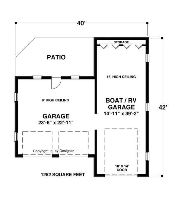 Boat-RV Garage 1754 | The House Designers