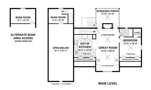 The balmer carriage house 1905 1 bedroom and 2 baths for Carriage rv floor plans