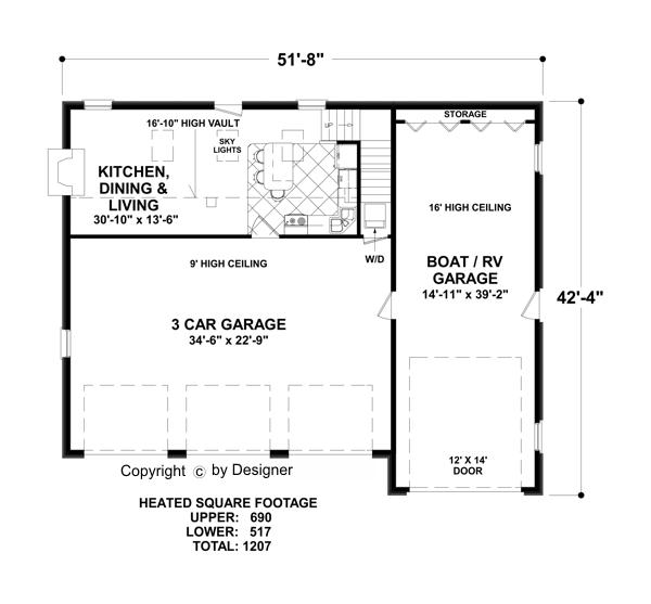 The grande carriage house 3328 2 bedrooms and 1 5 baths for One level garage plans with living quarters