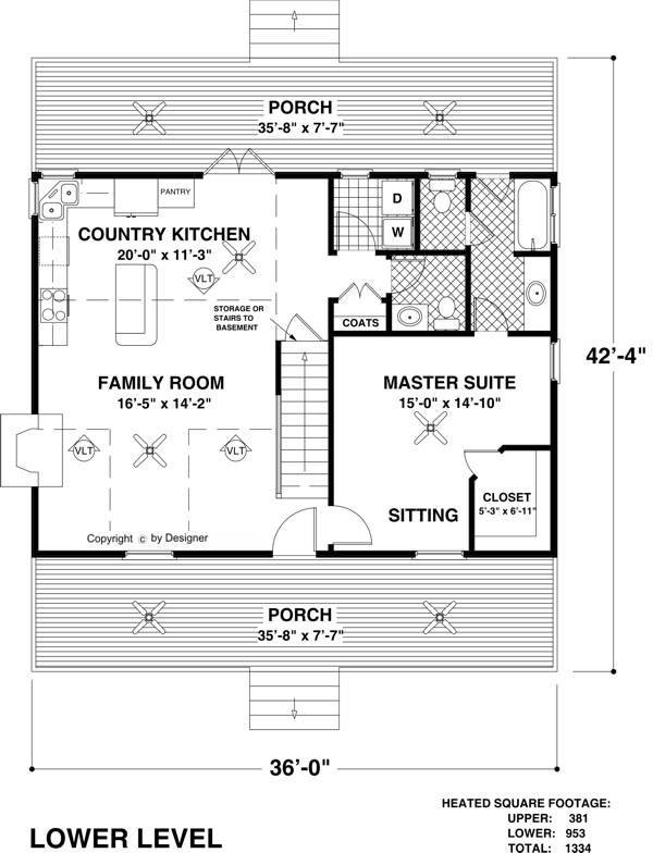 The mountain view 6619 3 bedrooms and 2 baths the for Mountain view home plans