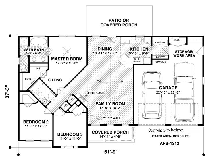 The Hidden Meadow House Plan 3063 - 3 Bedrooms and 2 Baths | The ...