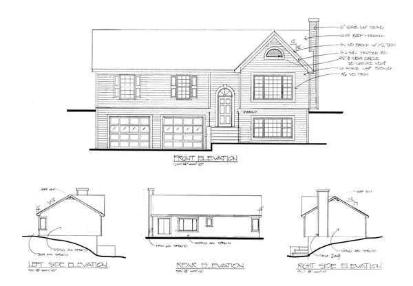 Rear Elevation image of The Portsmouth House Plan