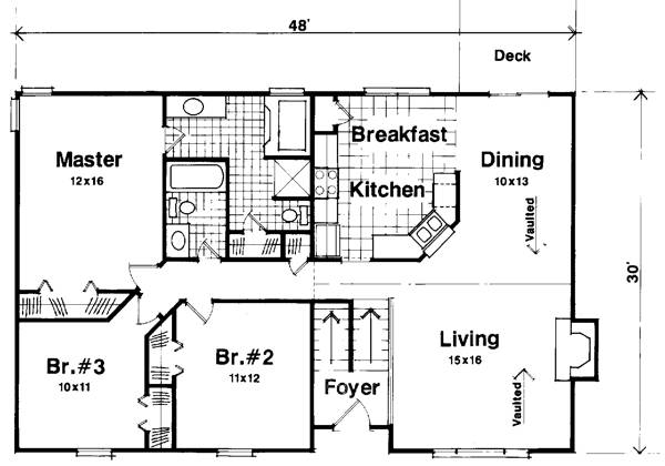 Floorplan image of The Portsmouth House Plan