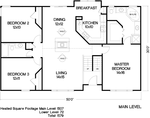 The hampton 6286 3 bedrooms and 2 5 baths the house The house planner