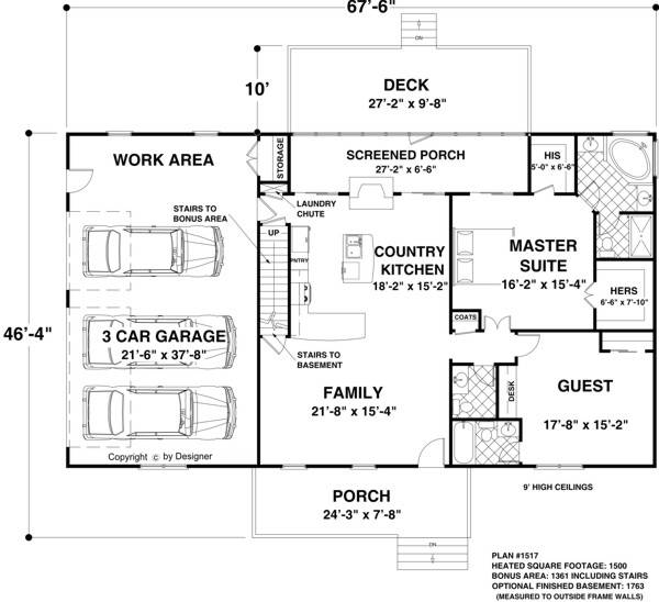 The creekstone 1123 2 bedrooms and 2 baths the house for 2 bedroom house plans under 1500 sq ft
