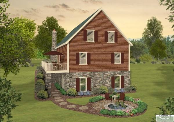 The aspen meadow 1755 3 bedrooms and 2 5 baths the for Cedar siding house plans