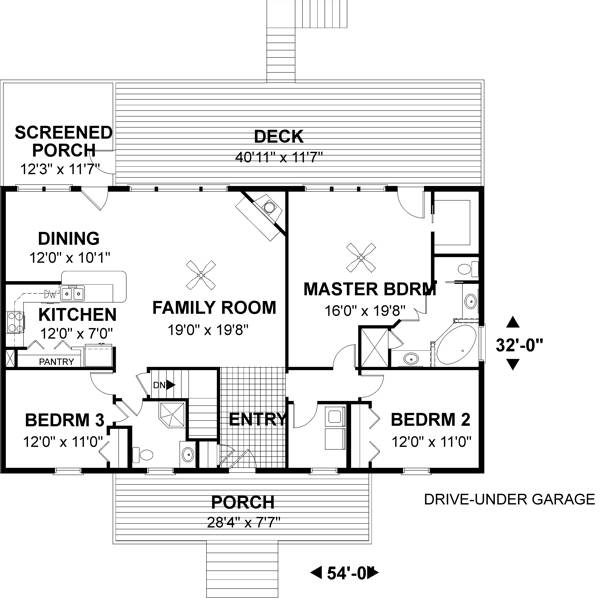 Amazingplans Com Garage Plan Aps0704: The Furman 6294 - 3 Bedrooms And 2.5 Baths