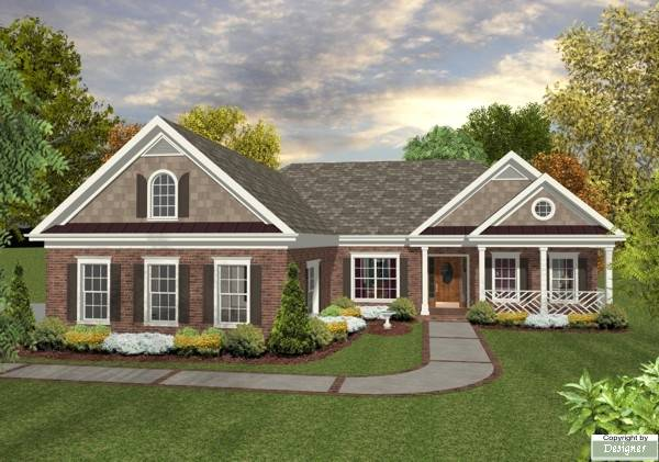 The Briarwood Bedrooms And Baths The House Designers - Brick home floor plans