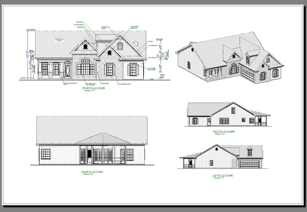 Sample Front Elevation For Small N Houses : The aberdeen bedrooms and baths house