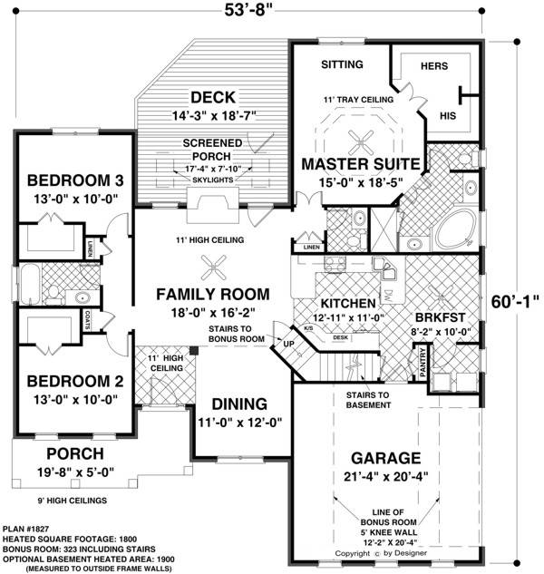 Floor Plans 1 Level | Single Level | hillside |Sloping Land