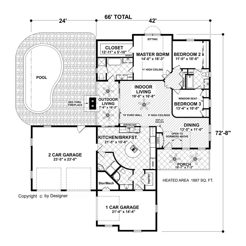Cottage Floor Plans small 1 bedroom beach cottage floor plans and elevation by brchvogel and carosso houseplanscom small house plans pinterest house plans First Floor Plan