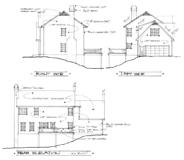 Rear Elevation image of The Cleveland House Plan