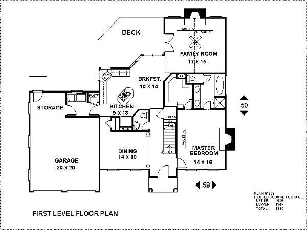 Lower Level Floorplan