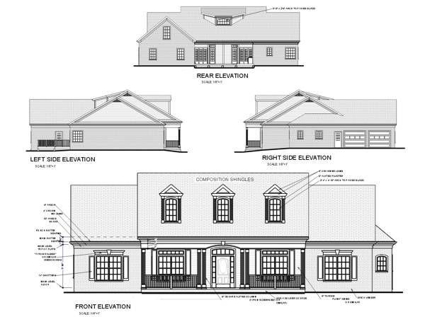 Awesome Front Elevation House Plans Gallery - 3D house designs ...