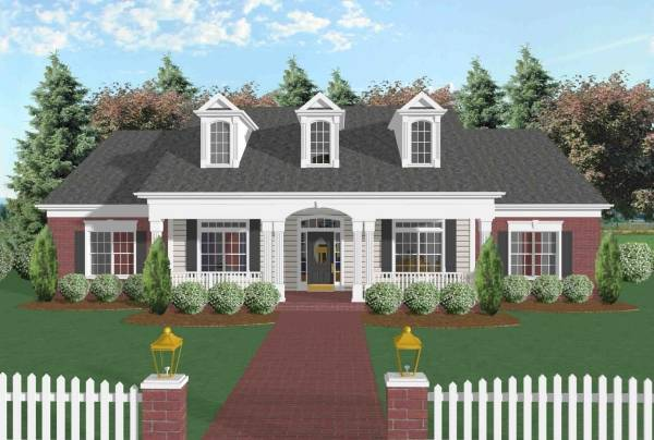 The broxton 6252 4 bedrooms and 3 5 baths the house for Front view house plans