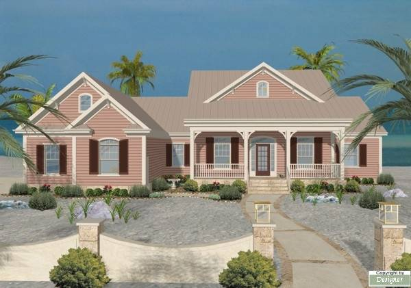 The edgewater cove 1756 3 bedrooms and 3 baths the for Ocean front home designs