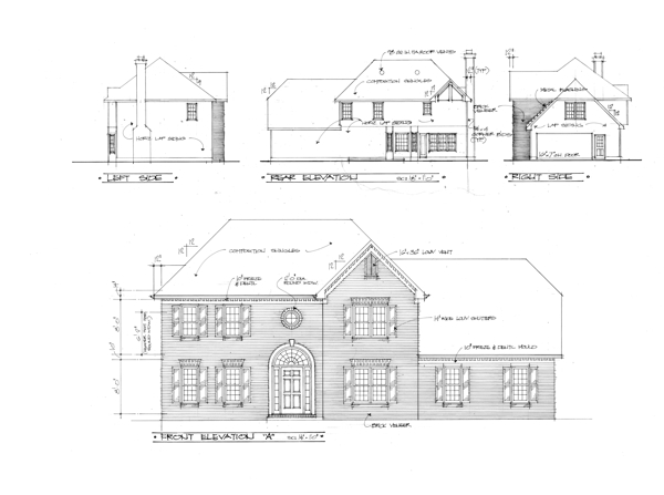 The claxton 7596 4 bedrooms and 2 baths the house for Brick elevation design