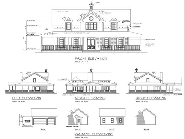 Elevation Key Plan : The smithfield bedrooms and baths house