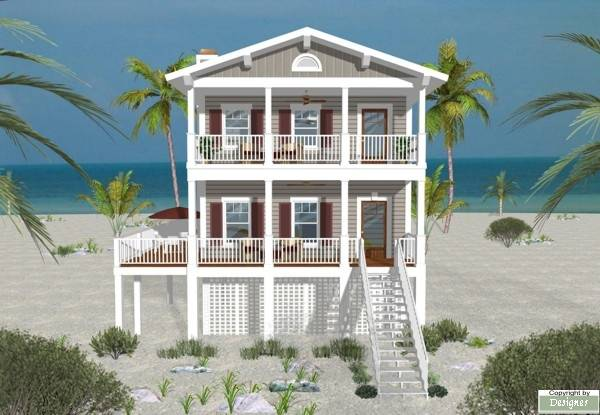 The ocean view 1764 3 bedrooms and 3 baths the house for Ocean house plans