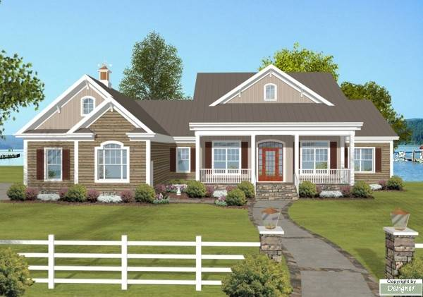 The lake view 1766 3 bedrooms and 3 baths the house for Lake view home plans