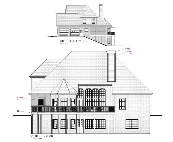 Rear Elevation image of The DeStio House Plan