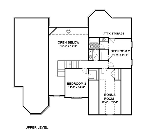 Upper Floorplan image of The DeStio House Plan