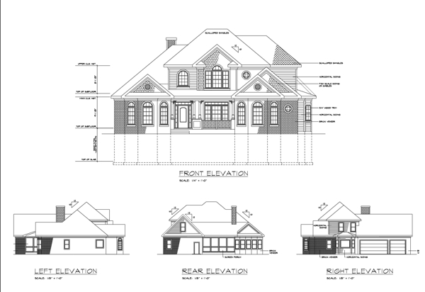 Rear Elevation image of The Ridgemont House Plan
