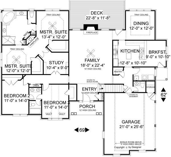 Amazingplans Com Garage Plan Aps0704: The Braselton 7613 - 3 Bedrooms And 2 Baths