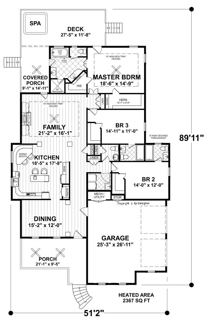 Eastgate cottage 4379 3 bedrooms and 3 baths the house for Thehousedesigners com home plans