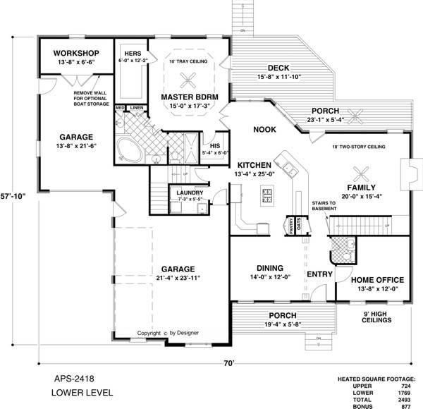 Amazingplans Com Garage Plan Aps0704: Pohlman Place 8871 - 4 Bedrooms And 3 Baths