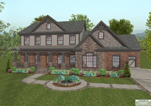 The Habersham 1033 - 4 Bedrooms and 4 Baths | The House Designers