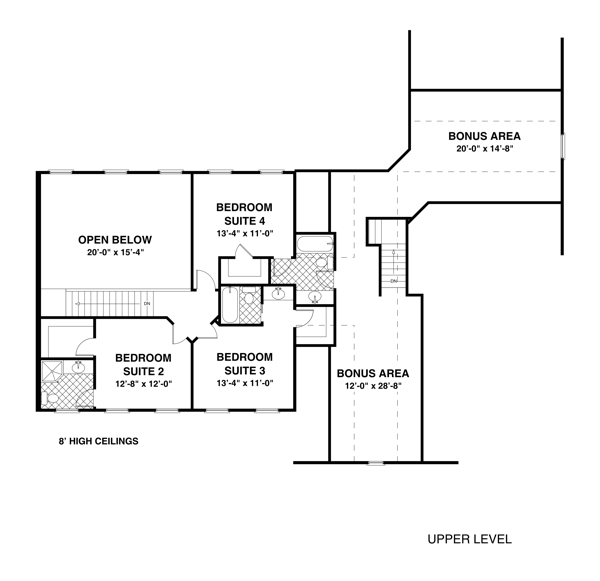 Amazingplans Com Garage Plan Aps0704: The Habersham 1033 - 4 Bedrooms And 4 Baths