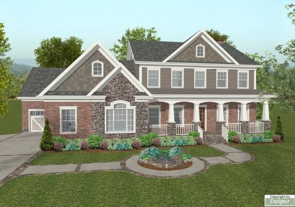 The highland 1034 4 bedrooms and 4 baths the house for 4 bedroom house plans with front porch