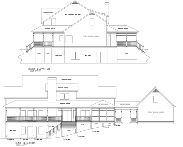 Rear Elevation image of The Autreyville House Plan