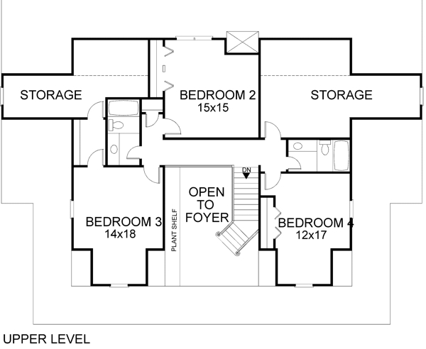 Upper Level Floorplan image of The Autreyville House Plan