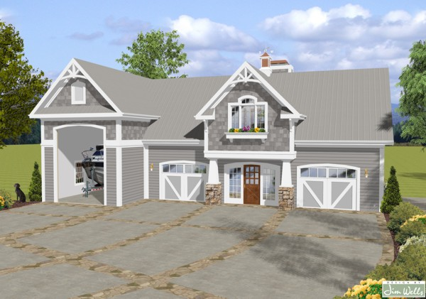 The balmer carriage house 1905 1 bedroom and 2 baths for Carriage house plans cost to build