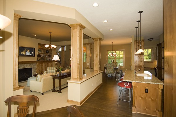 kitchen great room floor plans pipestone 1899 4 bedrooms and 3 baths the house designers 8114