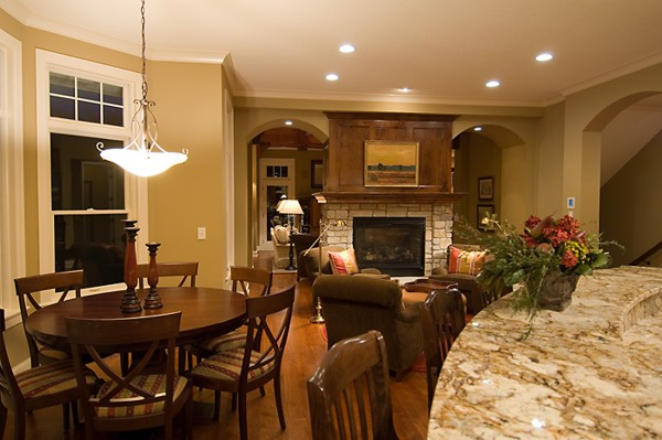 Bellingham 2263 5 bedrooms and 4 baths the house designers for House plans with hearth rooms