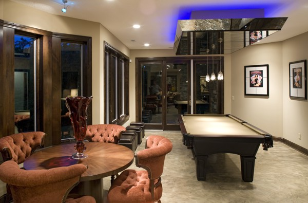 Merveilleux Check Out Some Really Cool Basement Floor Plans In The Latest Issue Of  Dream Designs Like This Game Room And Wet Bar From The Traverse House Plan: