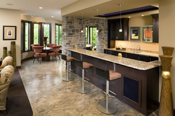 Basement wet bar design home decoration live - Basement bar layout ideas ...