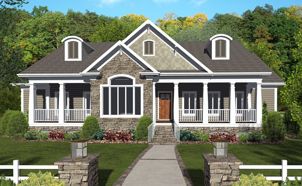 Craftsman dream design for Front view house plans