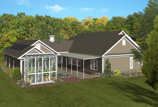 The forest glade 3090 3 bedrooms and 2 baths the house for Home plans with a view to the rear