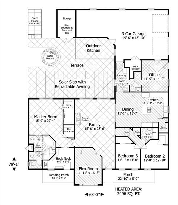 The forest glade 3090 3 bedrooms and 2 baths the house for Forest house plans