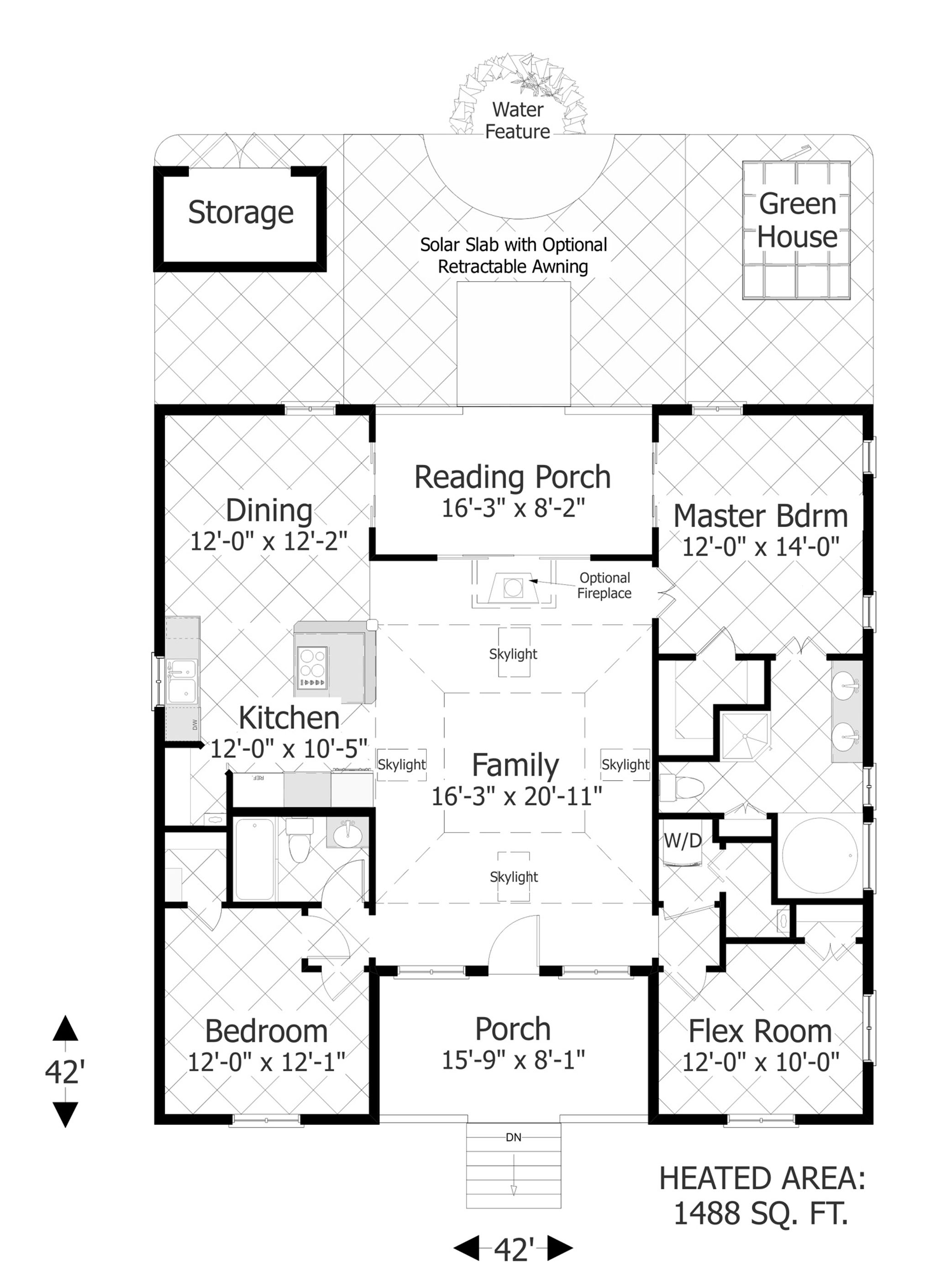 The Eco Box   Bedrooms and Baths   The House DesignersFloor Plan