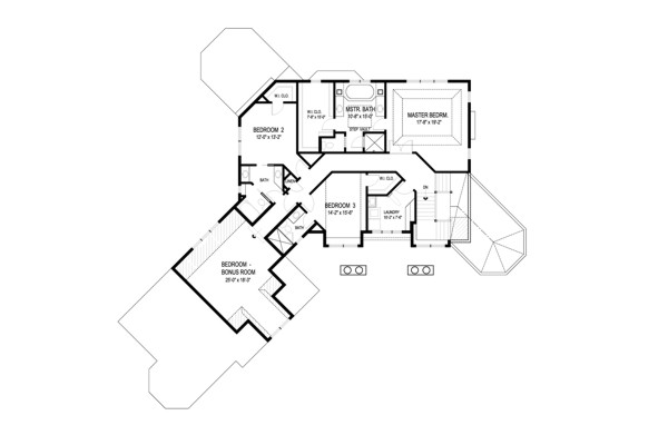 Upper Level Floorplan image of Anna's Garden House Plan